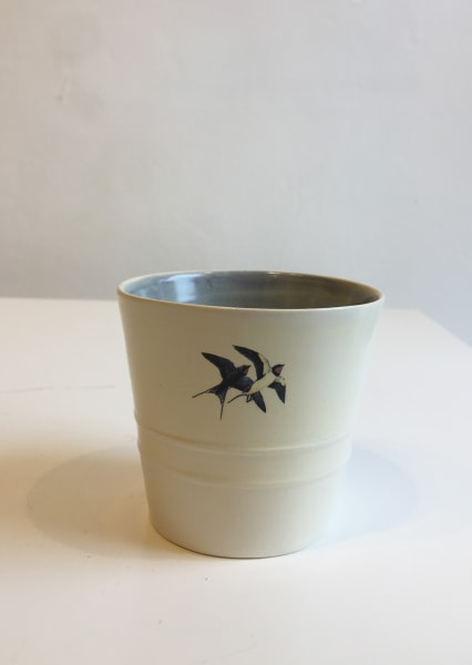 White Cup with Blue Inside