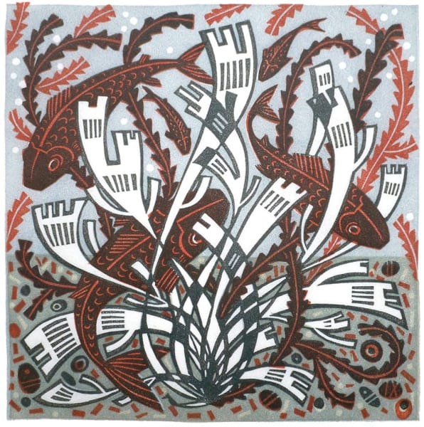 Angie Lewin, Five Fish