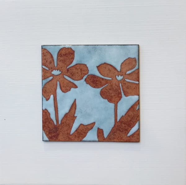 Janine Partington, Two Flowers, Small panel