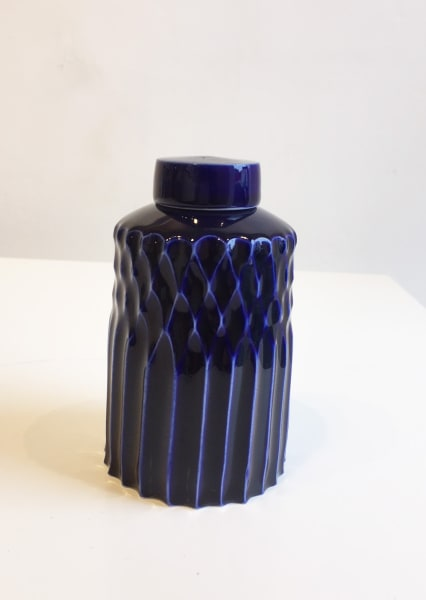 Honeycomb Fade Fluted Ginger Jar, Medium