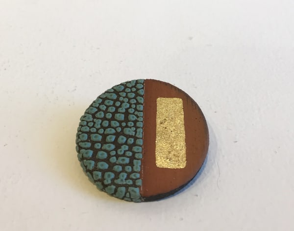 Emma Williams, Brooch in Turquoise and gold
