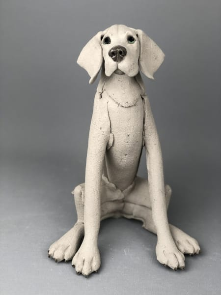 Virginia Dowe Edwards, Sitting Weimaraner , 2020