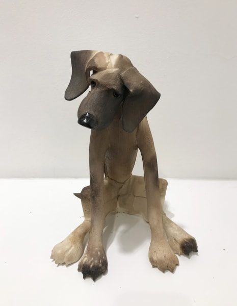 Virginia Dowe Edwards, Small Brown Dog, Seated, 2019