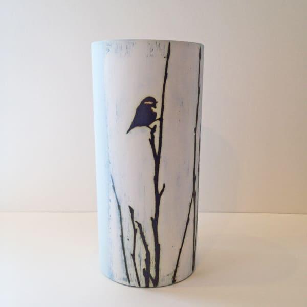 Kit Anderson, Bluetit on Magnolia Large Vase , 2019