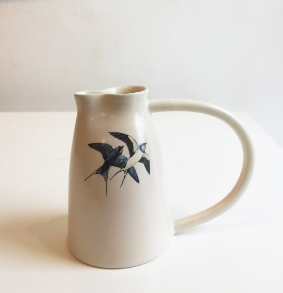 Jug with two swallows
