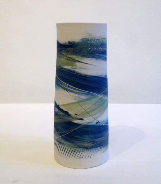 Medium Vase - Blue and Green