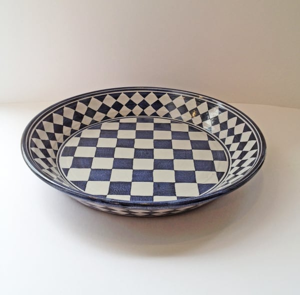 Tydd Pottery, Platter - Large Checkerboard , 2019