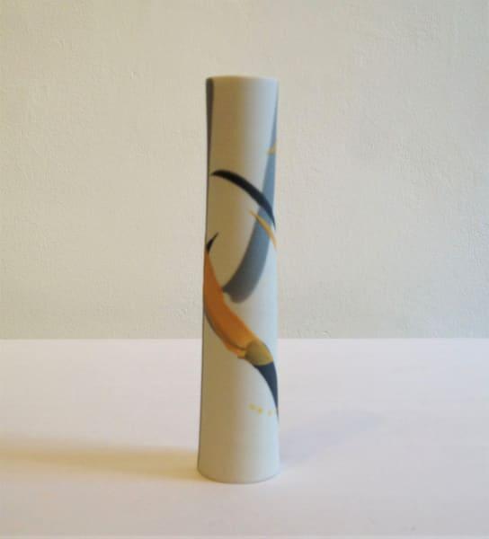 Cylinder Vase - Mustard & Grey