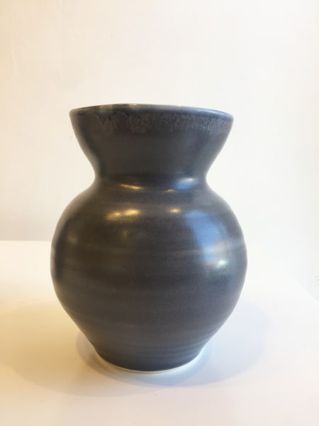 Wide Dark Grey Vase