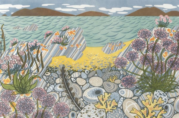 Angie Lewin, Pebble Shore