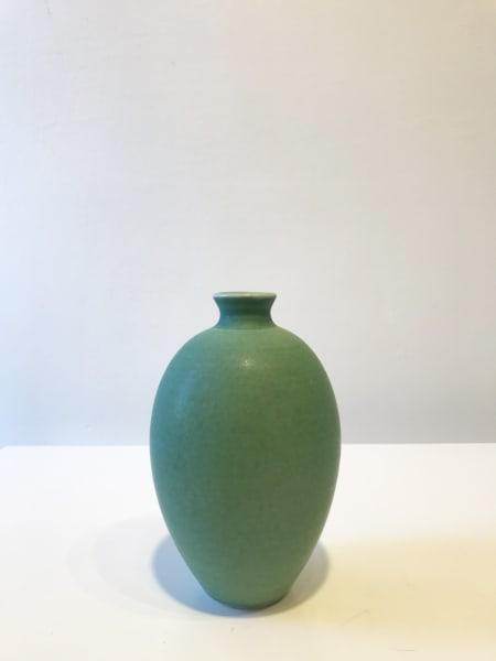 Turquoise Green Oval Vessel, Medium