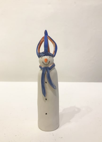 Clare Nicholls, Snowman with Blue Crown