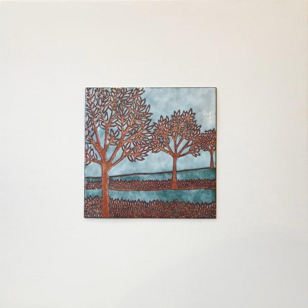 Janine Partington, Trees in a Row, Medium panel