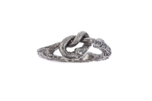 Twig Knot Ring, Silver
