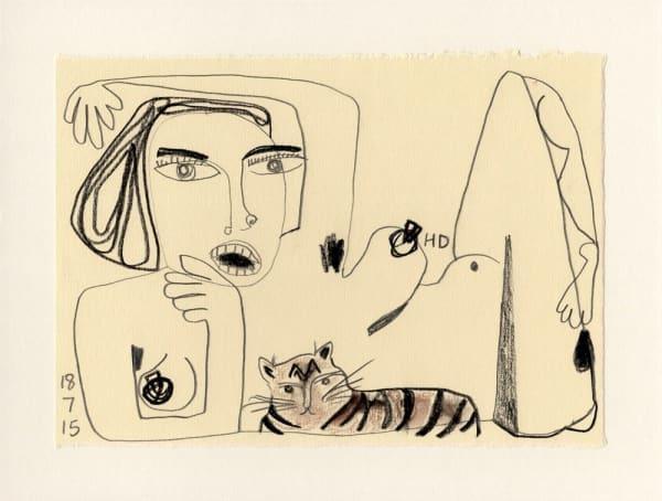 Henrietta Dubrey, Fifty Drawings II No.45, 2015