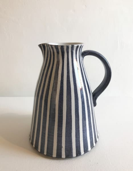 Blue and White Stripes, Large Jug