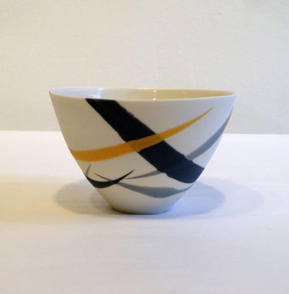 Small Bowl - Mustard and Grey