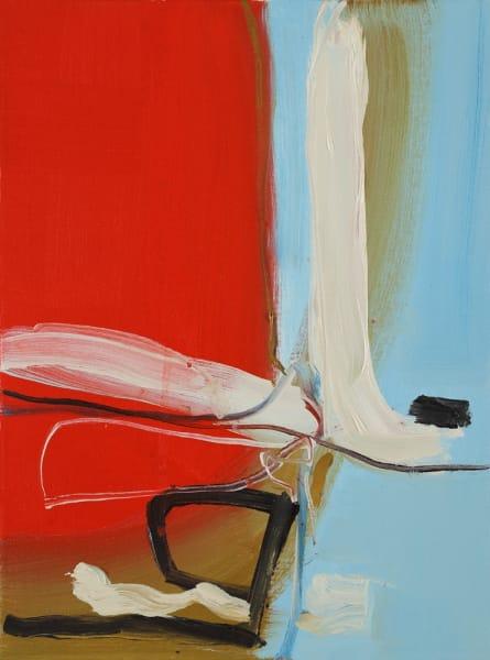 Henrietta Dubrey, White Track, Sharp Red, 2018