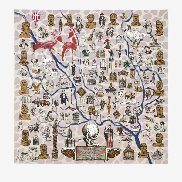 Mychael Barratt, The Shoulders of Giants - A Map of Spires, Quads and Oxford Corners, 2019