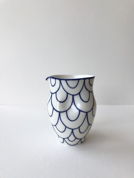 Rhian Malin, Double Scalloped Round Dimple Jug, Medium