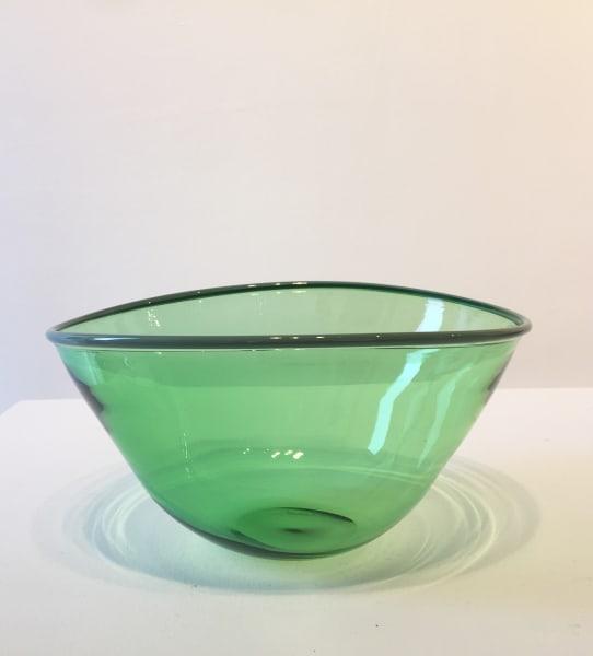 Medium Green Bowl with sage green rim