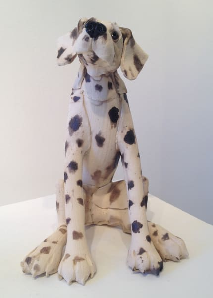 Virginia Dowe Edwards, Large Spotty Dog, Seated, 2017