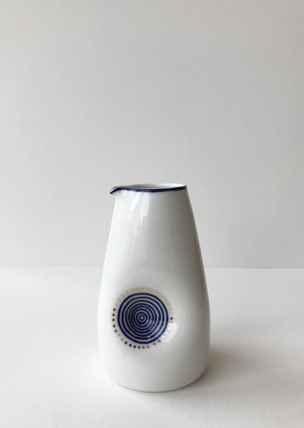 Rhian Malin, Fingerprint Dimple Jug with 24k Gold Lustre, Medium