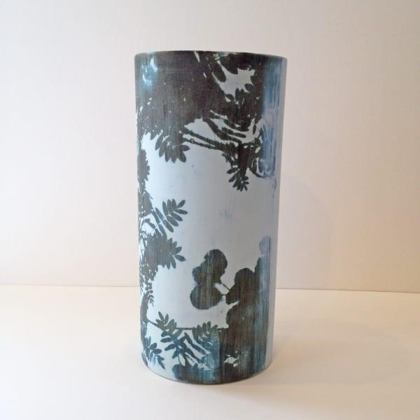 Kit Anderson, Sky Leaves on Blue Large Vase , 2019