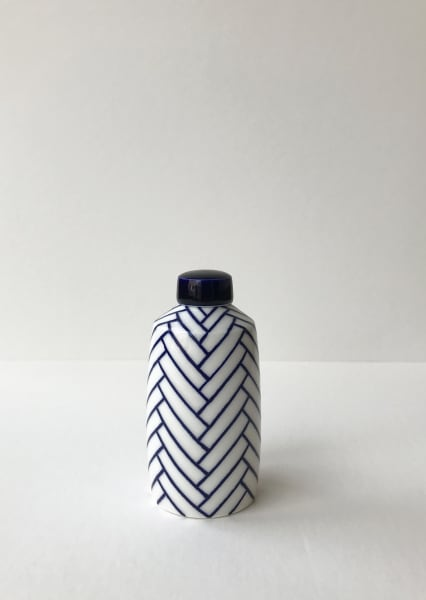 Rhian Malin, Chevron Straight Sided Ginger Jar, Small