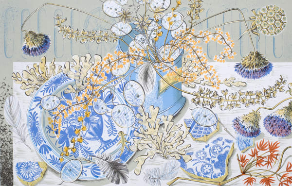 Angie Lewin, Honesty Blue