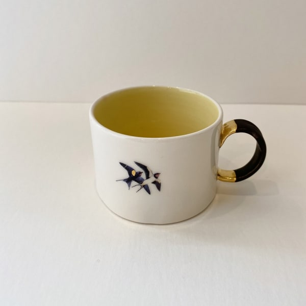 Fliff Carr, Cup with Black and Gold Handle, 2019