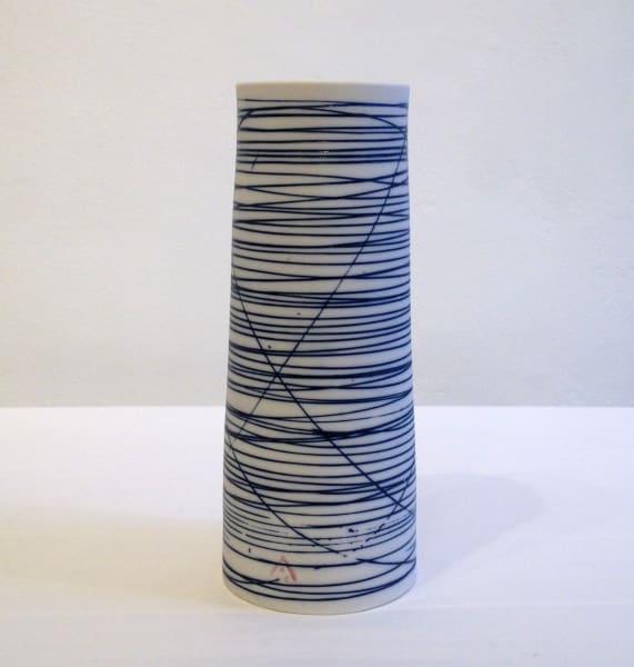 Medium Vase - Blue Lines