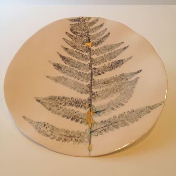 Single Fern Plate, Medium