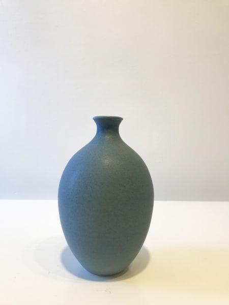 Teal Blue Oval Vessel, Medium