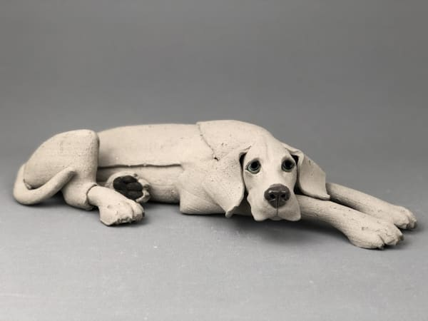 Virginia Dowe Edwards, Laying Weimaraner, 2020