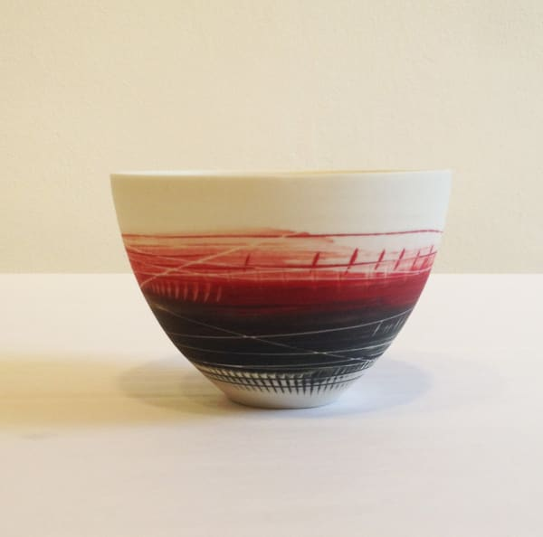 Small Bowl - Red and Black