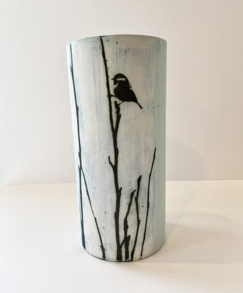 Kit Anderson, Bluetit on Magnolia, Tall large vase