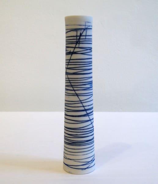 Cylinder Vase - Blue Lines