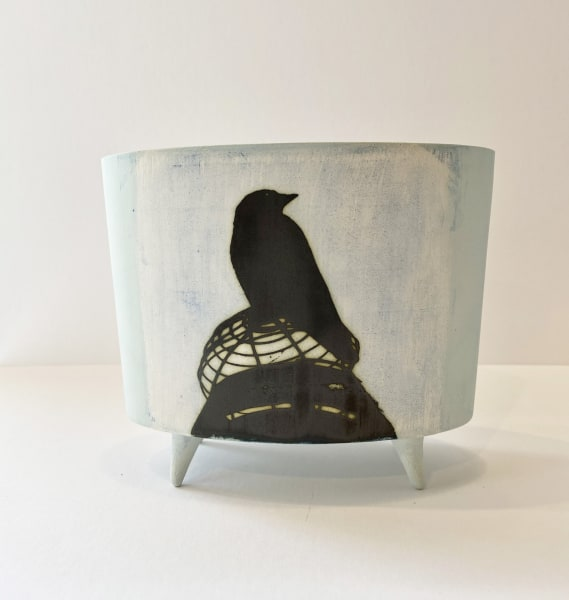 Kit Anderson, Jackdaw, Oval vessel with feet