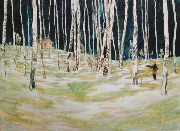 Daniel Ablitt , Collecting Wood (Warm Cabin), 2019