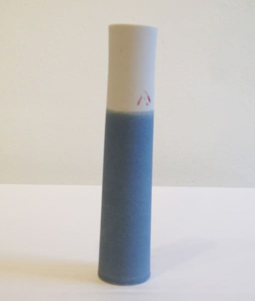 Cylinder Vase - Grey Blue