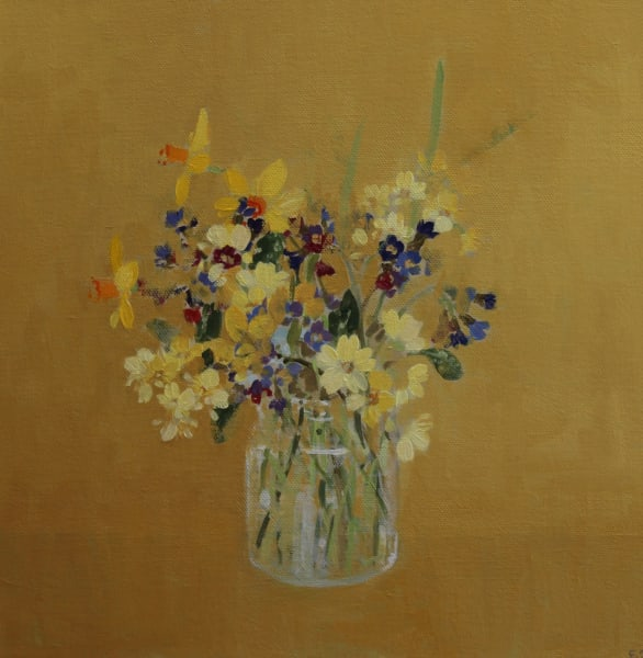 Fletcher Prentice, Spring Flowers on Ochre, 2019