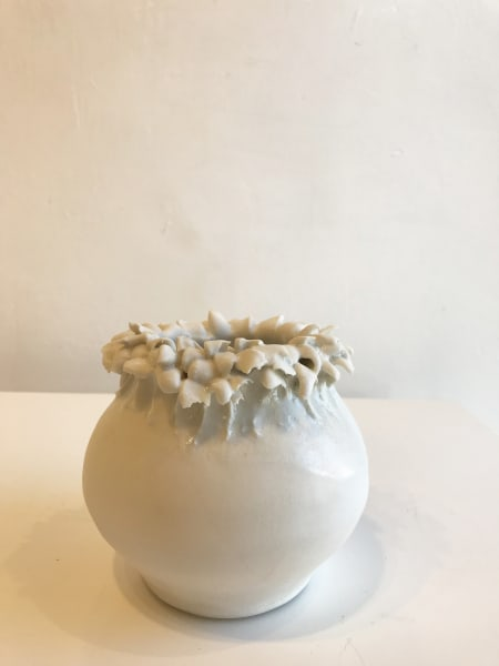 Emma Jagare, Small White Frilly Top Vase, 2018