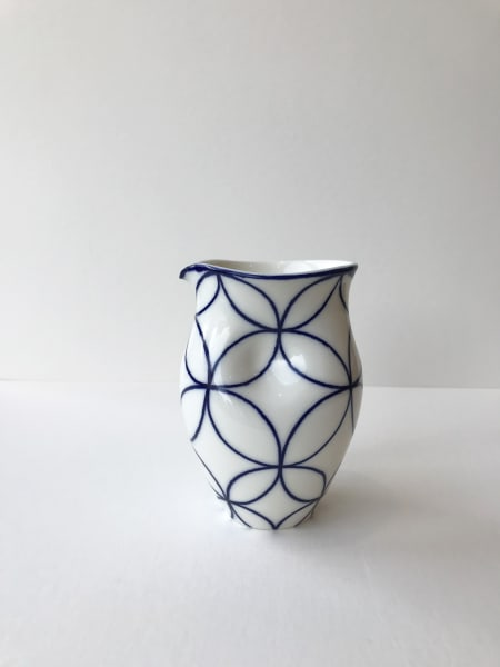 Rhian Malin, Double Ring Round Dimpled Jug, Medium
