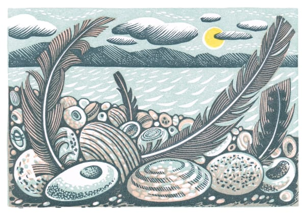 Angie Lewin, Tideline Feathers