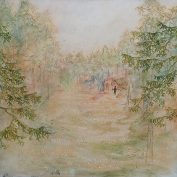 Daniel Ablitt, Woodland Cabin (Warm Light), 2019