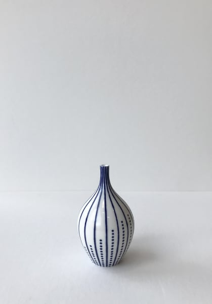 Rhian Malin, Twisted Lines Bottle with Dots, Small