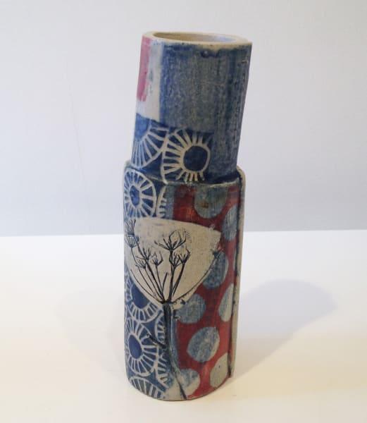 Red Tube Vase