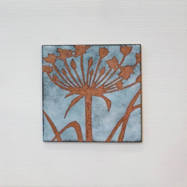 Janine Partington, Single Agapanthus, Small panel