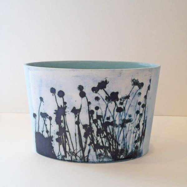 Kit Anderson, Sky Flowers Oval Vase , 2019